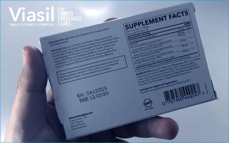 Ingredients in Viasil