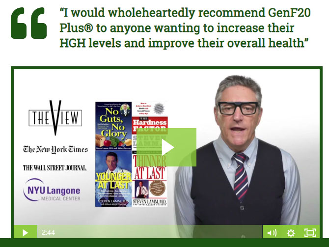 """Dr. Steven Lamm, as seen on """"The View"""" recommends GenF20 Plus"""