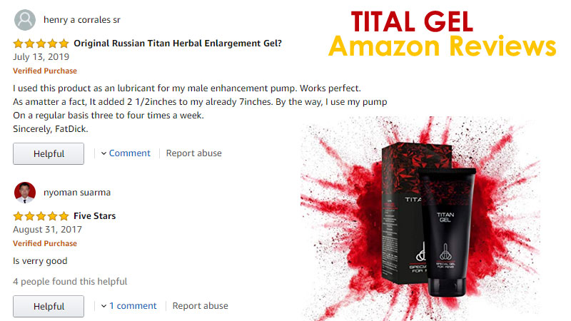 Tital Gel Amazon Customer reviews