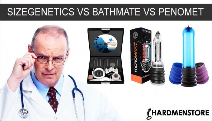 SizeGenetics vs Bathmate vs Penomet